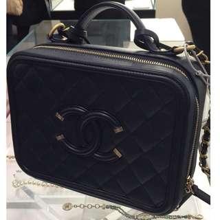Chanel Vanity Case Navy (21cm)