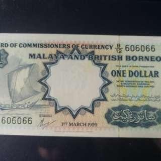Malaya 1959 $1 TDLR au