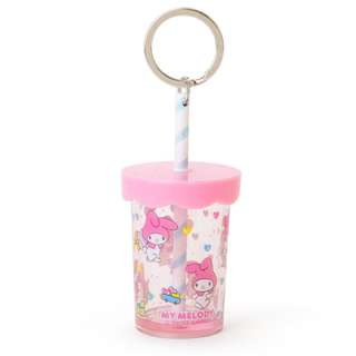 Japan Sanrio My Melody Straw Cup Key Holder
