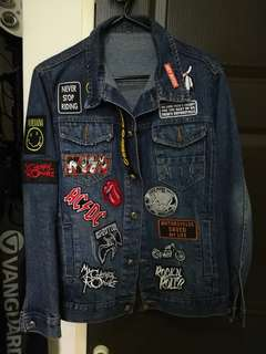 Denim Jacket Rock Customized Patch Collection NON LEVI'S