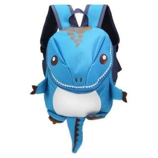 CARTOON DINOSAUR BACKPACK CHILDREN KINDERGARTEN SCHOOL BAG (BLUE)