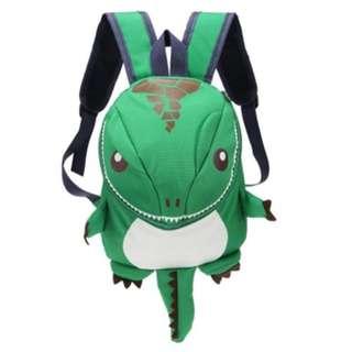 CARTOON DINOSAUR BACKPACK CHILDREN KINDERGARTEN SCHOOL BAG GREEN
