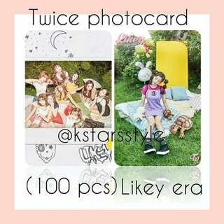 530 TWICE LIKEY PHOTOCARD 💫 (100 PIECES)