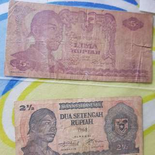 Banknote old of Indonesia