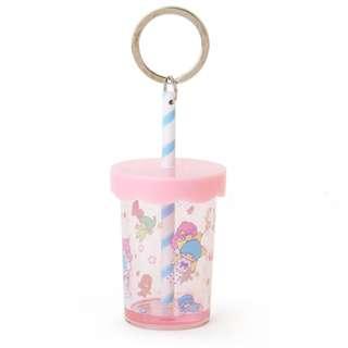 Japan Sanrio Little Twin Stars Straw Cup Key Holder
