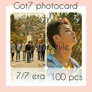 530 GOT7 7/7 ERA PHOTOCARD 💫 (100 PIECES)