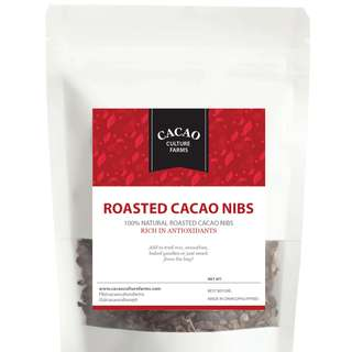 Roasted Cacao Nibs (Unsweetened) 50g / 100g / 500g Packs