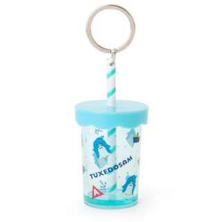 Japan Sanrio Tuxedosam Straw Cup Key Holder