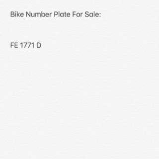 Bike Number Plate For Sale: FE 1771 D