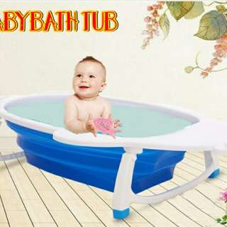 FOLDABLE BABY BATH TUB BLUE COLOUR