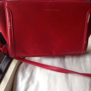 Preloved Red Charles and Keith Bag
