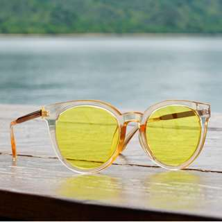 Sunglasses Kacamata Bening Style Korea Kuning