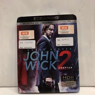 JOHN WICK 2 4K ULTRA HD +BLU RAY +DIGITAL