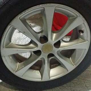 Alza original rim & tyre secondhand