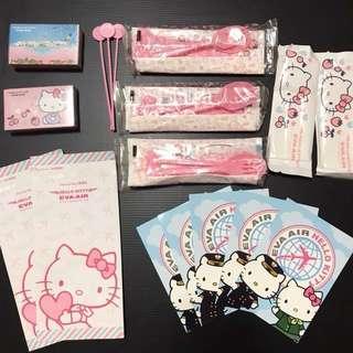 🚚 降⬇️長榮hello kitty 周邊餐具撲克牌含不織布袋