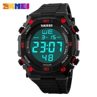 SKMEI Jam Tangan Digital Pria - DG1130 - Black/Red