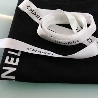 Chanel 白絲帶(~142cm 長)