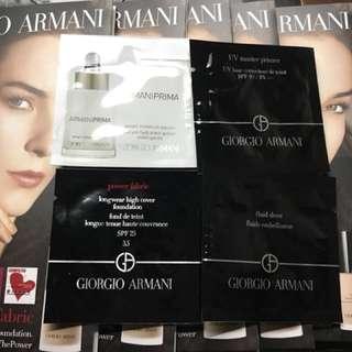 Giorgio Armani power fabric foundation with moisture serum, UV master primer & fluid sheer