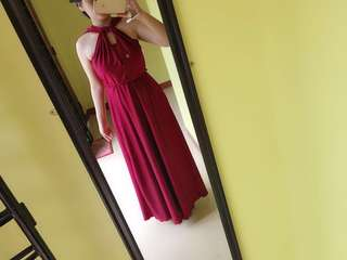 Maroon Infinity dress