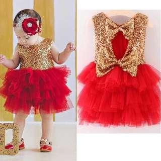 NEW!!!Birthday Dress Sequins