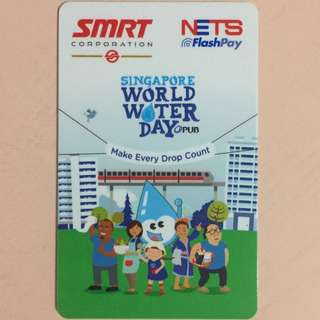 Limited Edition brand new SMRT cum PUB Singapore World Water Day Design Nets Flash Pay Card For $7.90.