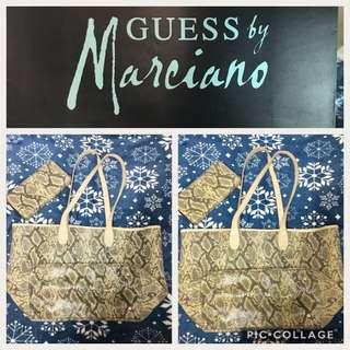 Authentic George Marciano GUESS Bag and wallet set