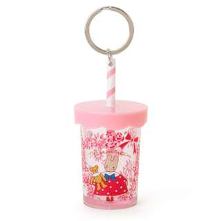 Japan Sanrio Marron Cream Straw Cup Key Holder