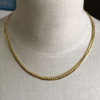 "{Women's Jewelry - Gold Necklace} 金是永恆 Solid 916 (22K) Gorgeous Unisex 18"" Yellow Gold Necklace"