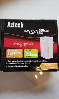 Aztech Home AV 500Mbps pass through networking x2