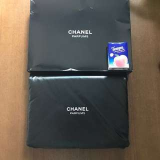 CHANEL Cosmetic bubble pouch