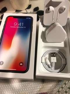 原裝iPhone X 配件,包括(ear pods 、插頭、充電線) 不散賣