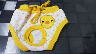 Yellow duckie pantie for pet