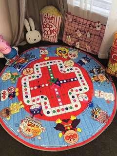 Multiple Usage Kids Aeroplane Chess Playmat and Toys Storage Bag