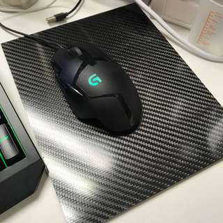 Carbon fibre mousepad