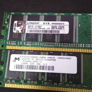 Assorted DDR1 Ram
