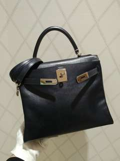 Hermes kelly 28 blue indigo