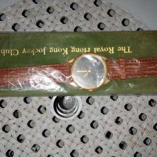 香港赛馬會1995年11月25日快活谷重開纪念版男女手錶1对