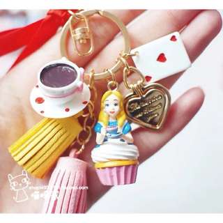Alice in wonderland keychain