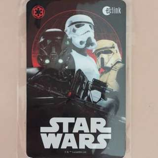 Limited Edition brand new Star Wars Design ezlink Card For $20.