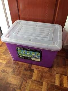 Plastic storage container box