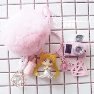 Sailor moon handmade keychain