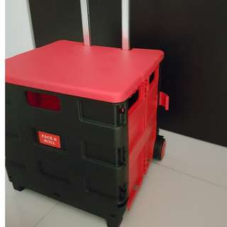 Foldable trolley. Light weight pack and go.