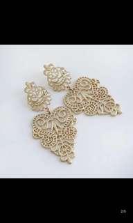 Indian chic fashion Dull Gold Earrings