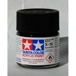 Tamiya Semi Gloss Black Acrylic Paint