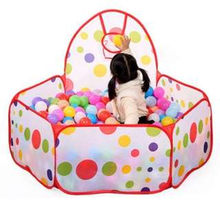 Play tent with ball ring