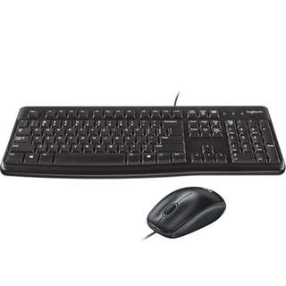 Keyboard MK120 Mouse + Keyboard USB Bundle Murah