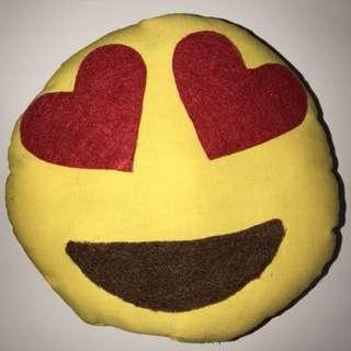 Small Emoji Heart Eye Pillow