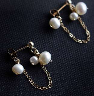 天然珍珠14k耳環頸鍊手鍊訂製