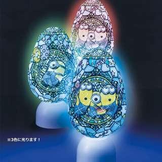 日本代購: 砌圖系列: Minions 小黃人/小小兵 (Friends款) 3D puzzle (橢圓型燈座)