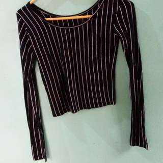 Stripe long sleeves